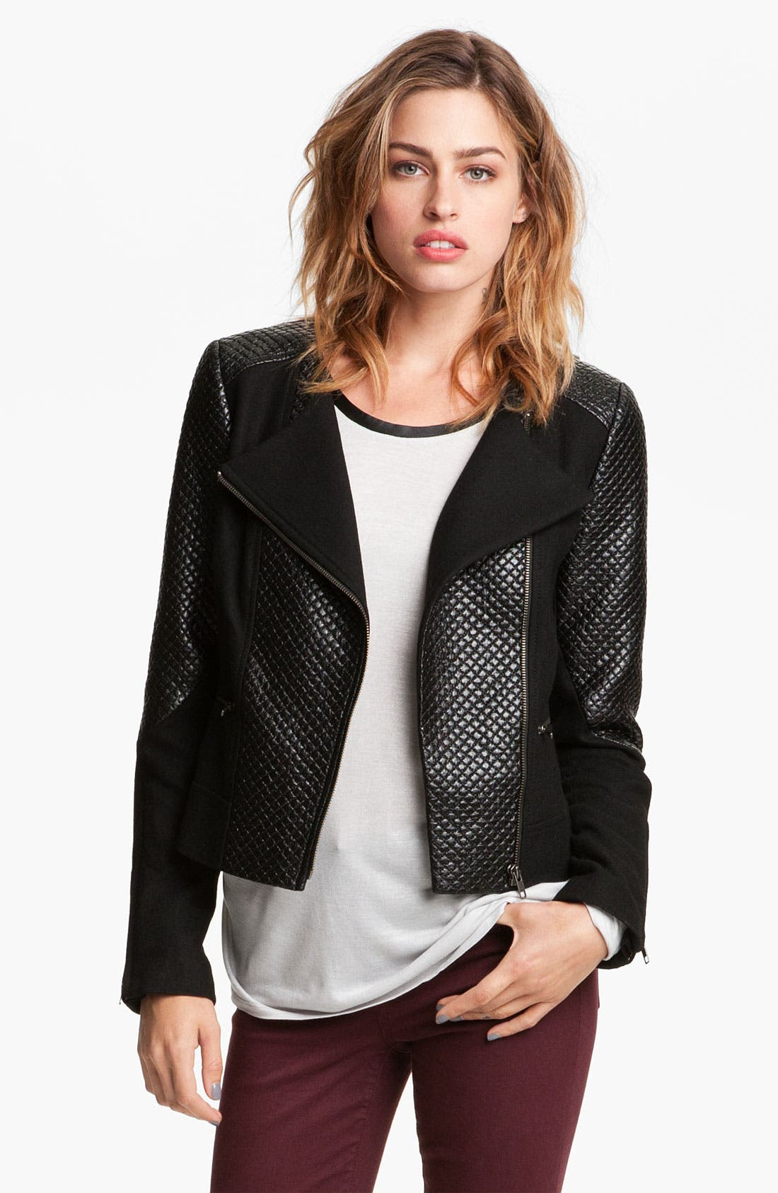 Alternate Image 1 Selected - Trouvé Quilted Moto Jacket