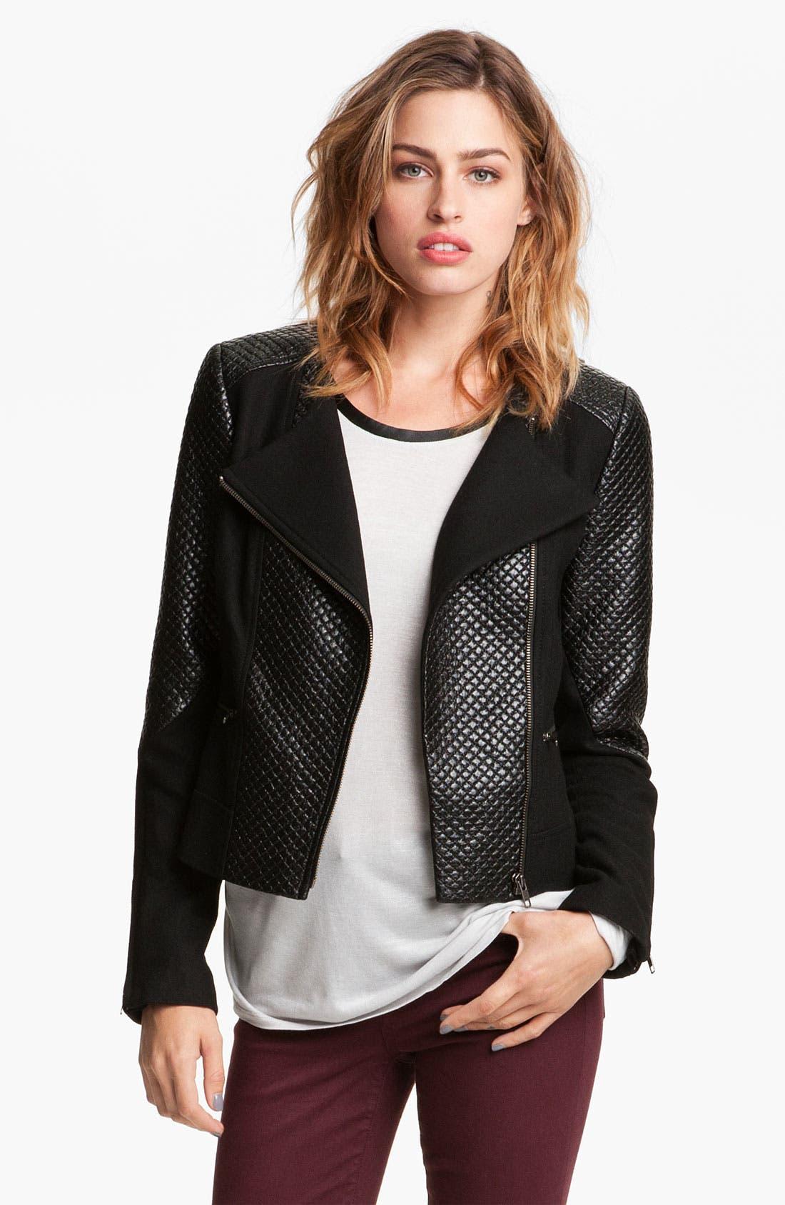 Main Image - Trouvé Quilted Moto Jacket