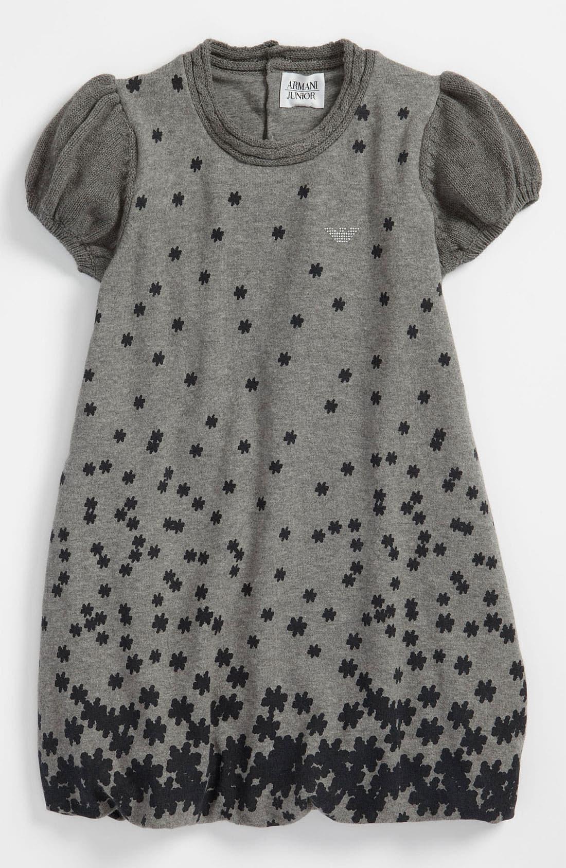 Main Image - Armani Junior Floral Dress (Toddler, Little Girls & Big Girls)