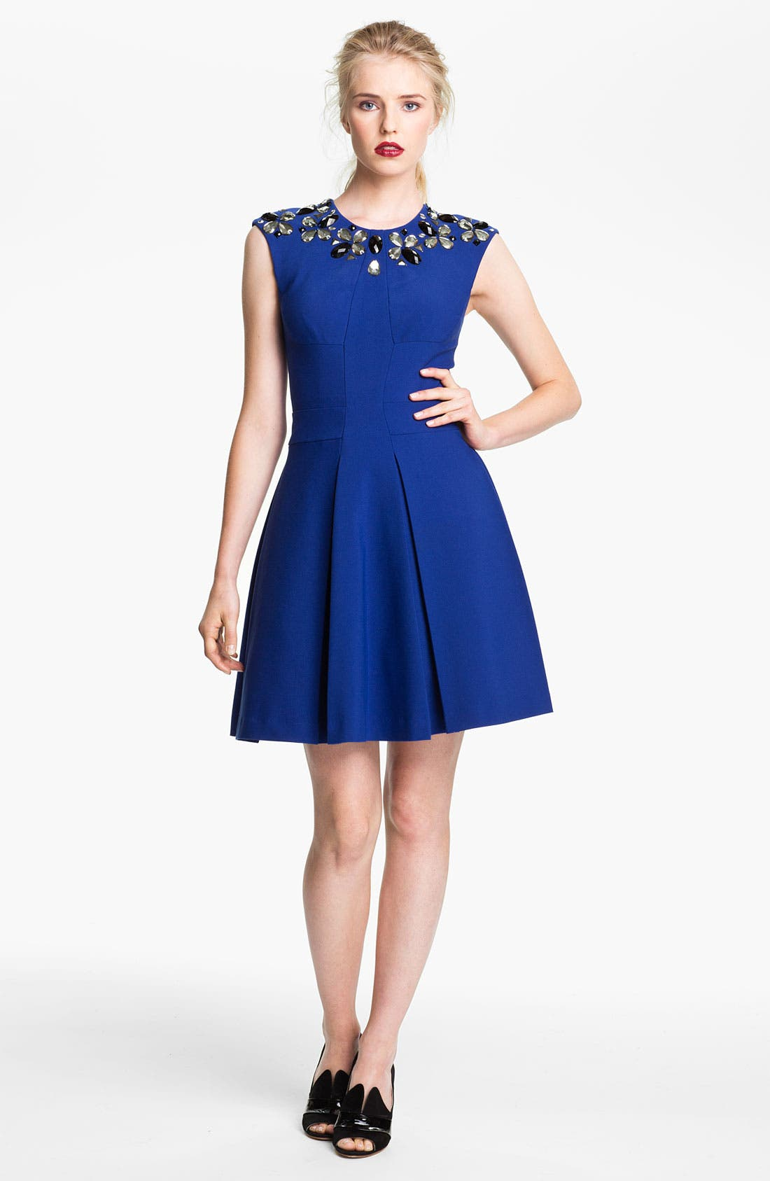 Main Image - Tracy Reese Embellished Neck Dress