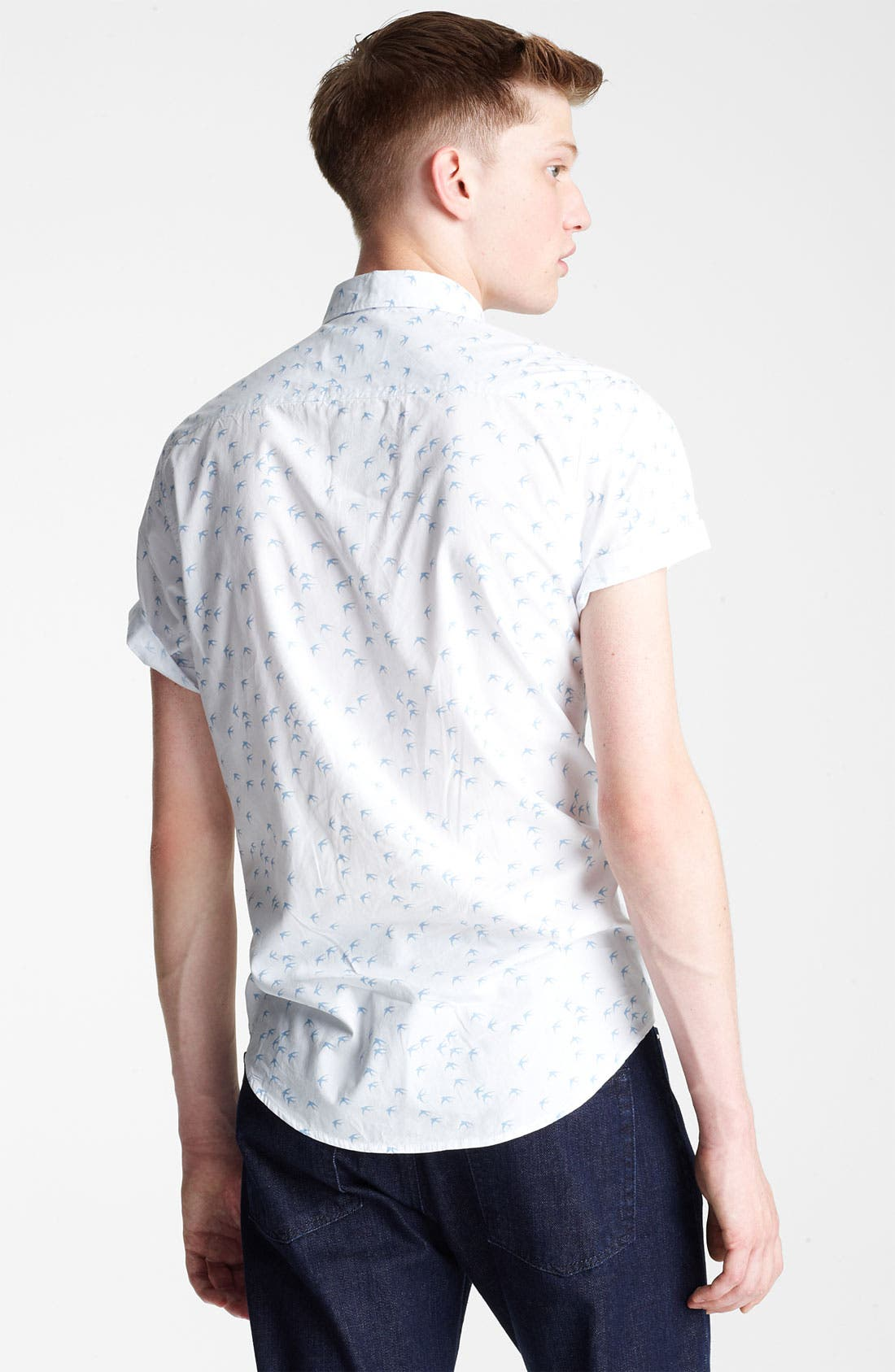 Alternate Image 2  - Topman 'High Roller' Swallow Pattern Woven Shirt