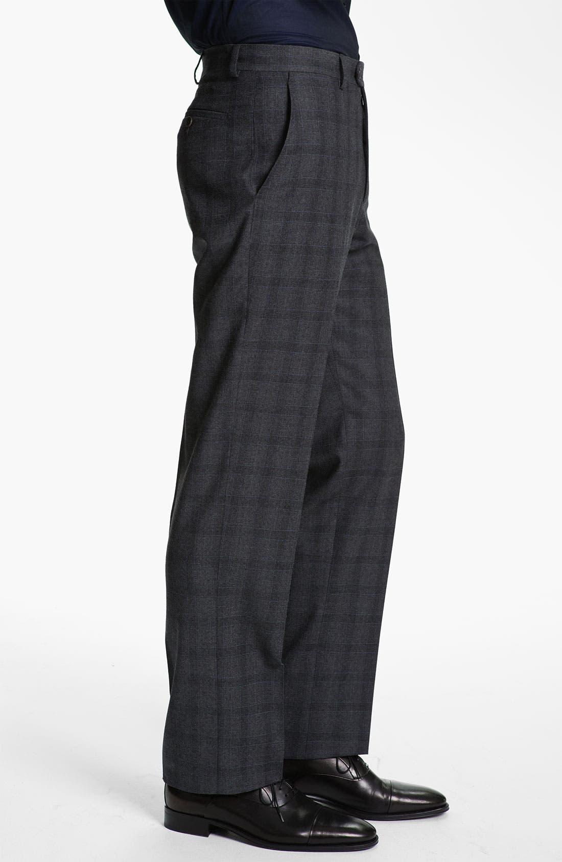 Alternate Image 3  - Armani Collezioni Plaid Print Wool Trousers