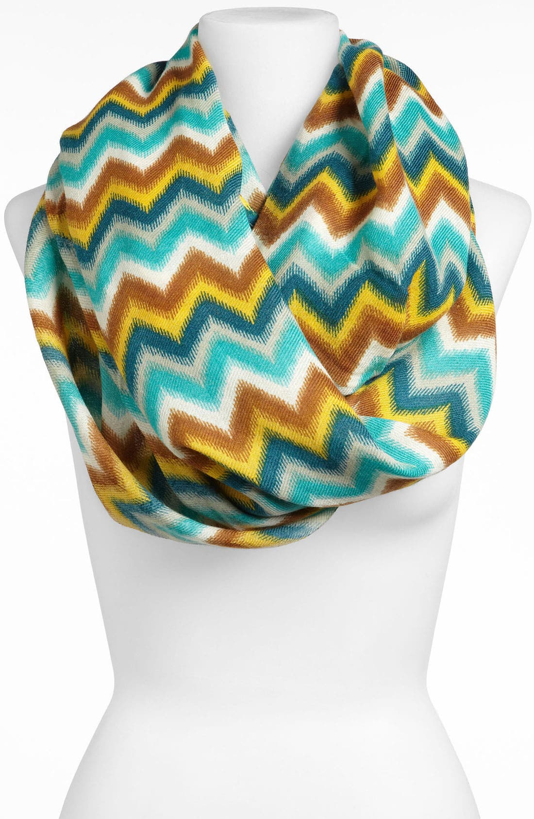 'Zeus' Infinity Scarf,                         Main,                         color, Turquoise
