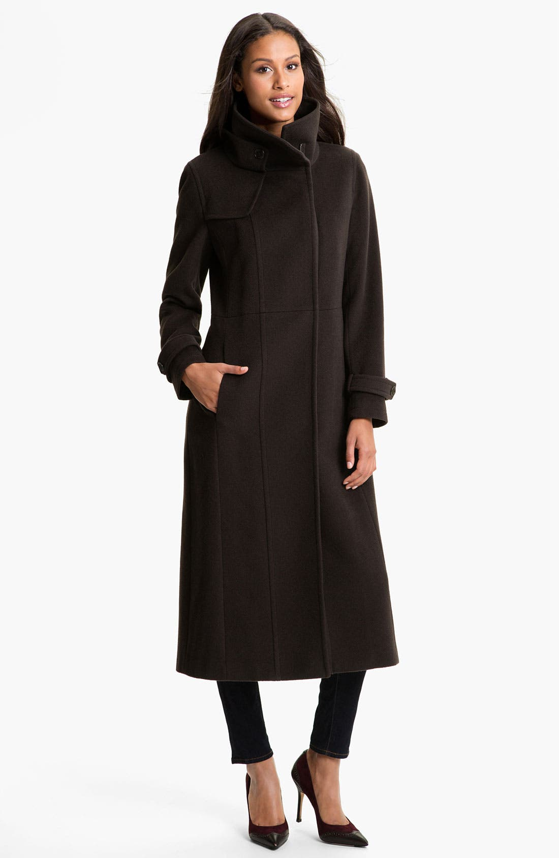 Main Image - RAINFOREST Long Wool & Cashmere Coat
