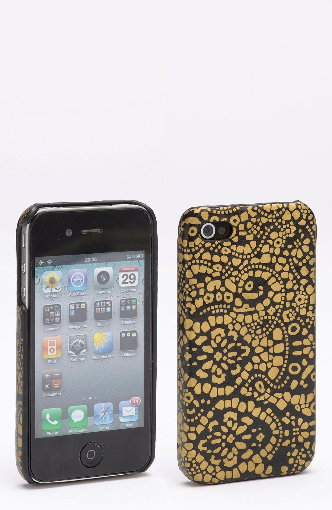 Alternate Image 1 Selected - T-Shirt & Jeans Animal Print iPhone 4 & 4S Case