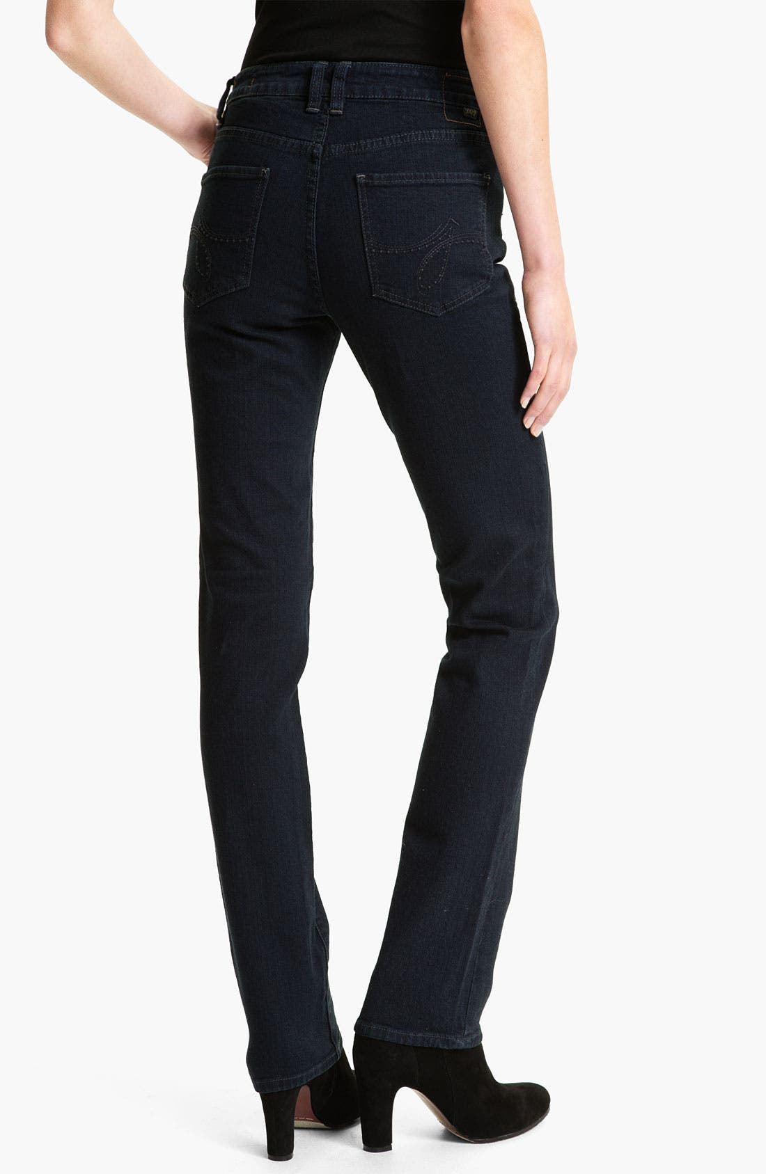 Alternate Image 2  - Jag Jeans 'Donovan' Straight Leg Jeans (After Midnight) (Petite)