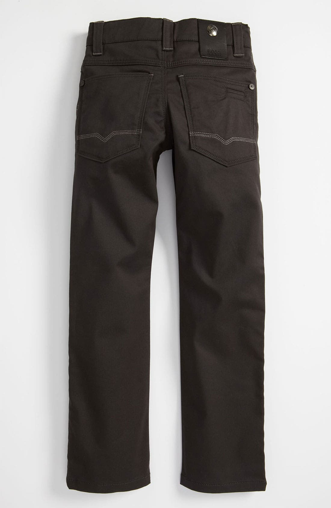 Alternate Image 1 Selected - BOSS Kidswear Straight Leg Twill Pants (Little Boys & Big Boys)
