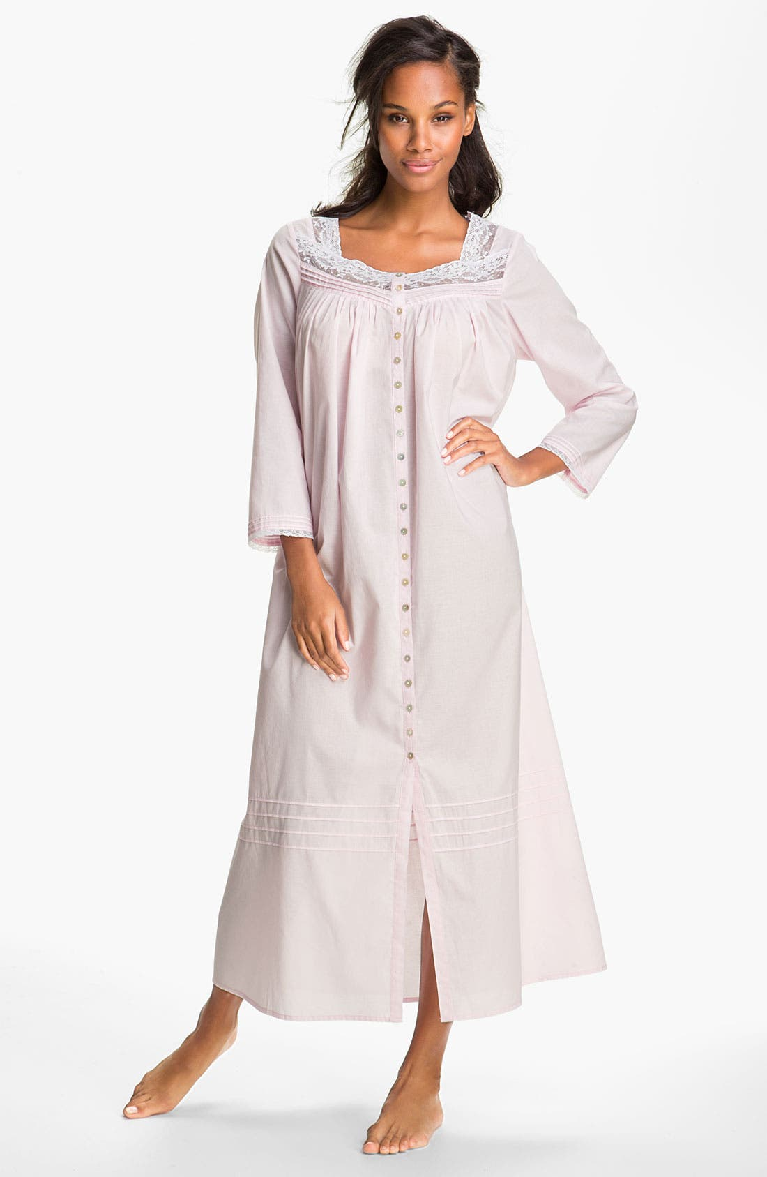 Alternate Image 1 Selected - Eileen West Button Front Nightgown