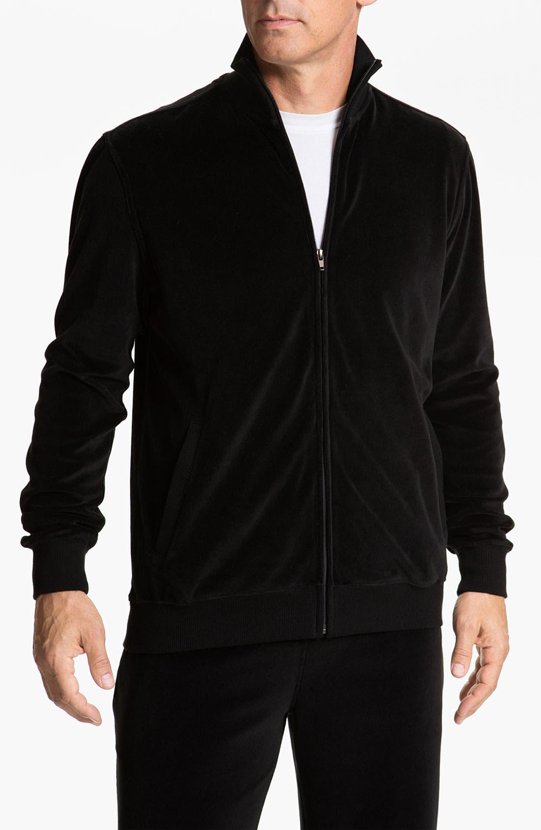 Main Image - Daniel Buchler 'Deluxe' Yarn-Dyed Velour Track Jacket