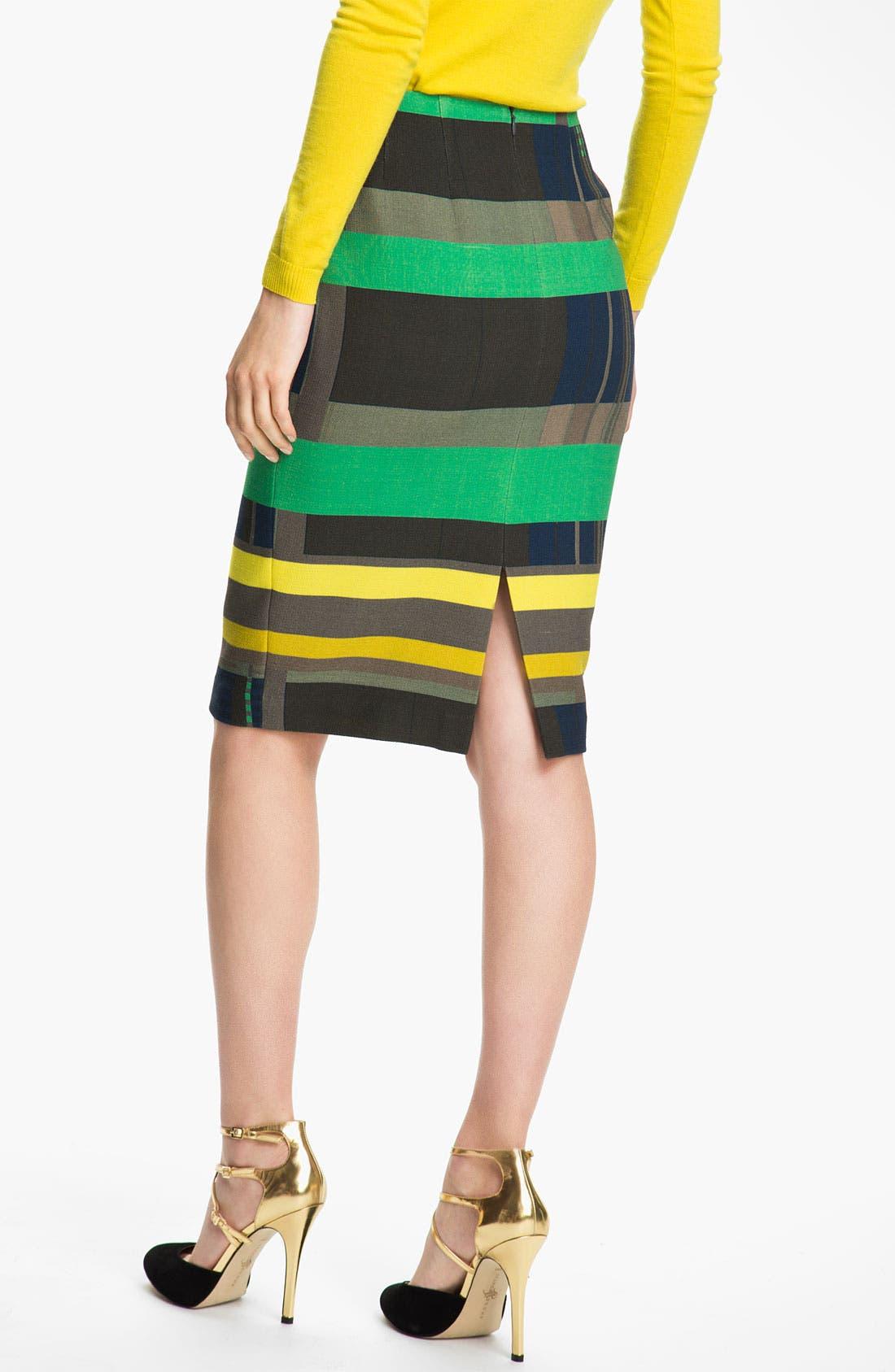 Alternate Image 2  - Lafayette 148 New York Cubism Print Skirt