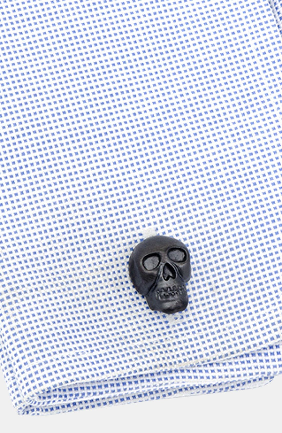 Alternate Image 2  - Ox and Bull Trading Co. 'Iron Skull' Cuff Links