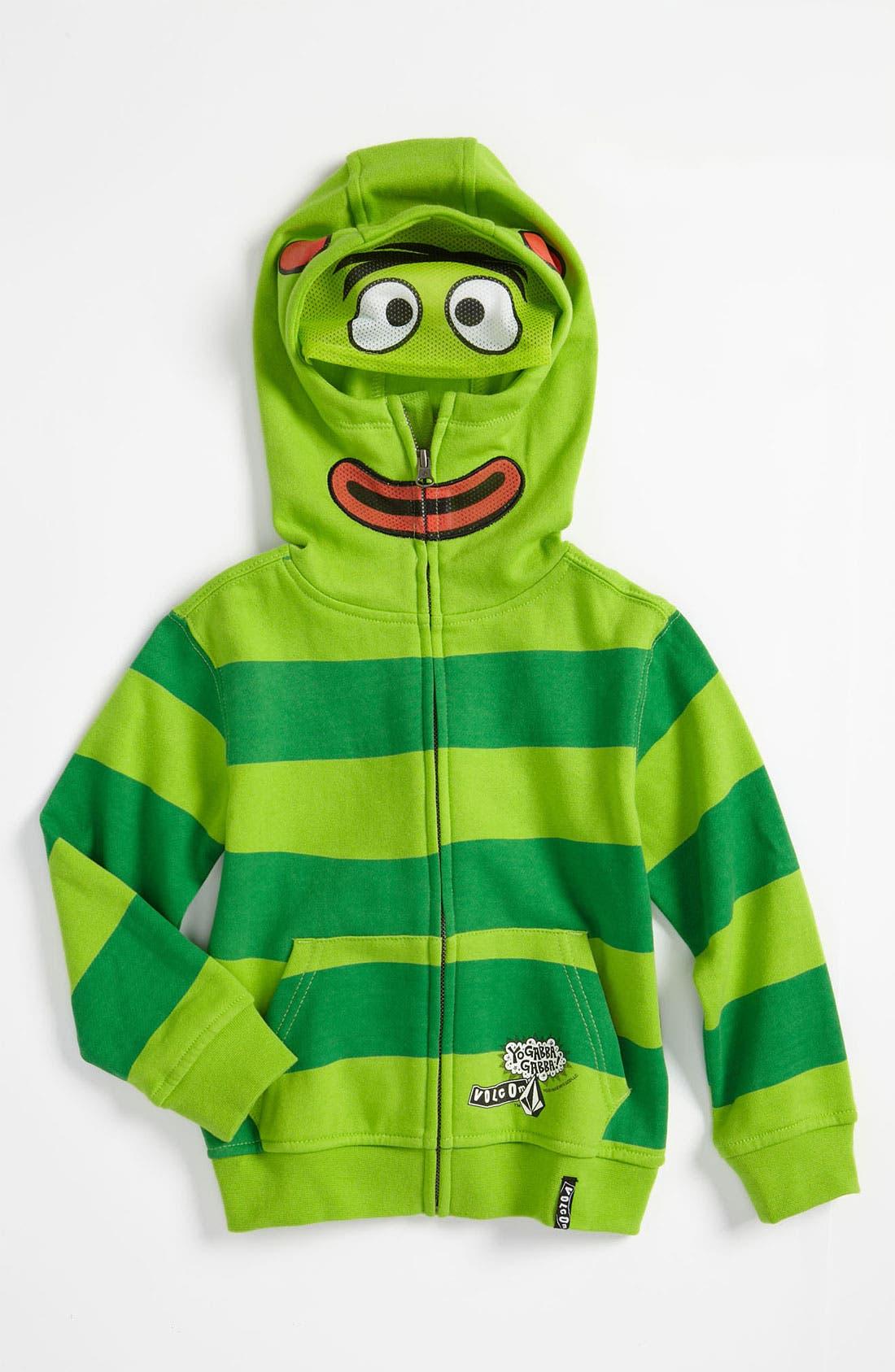 Alternate Image 1 Selected - Volcom 'Yo Gabba Gabba!™' Mask Hoodie (Toddler & Little Boys)