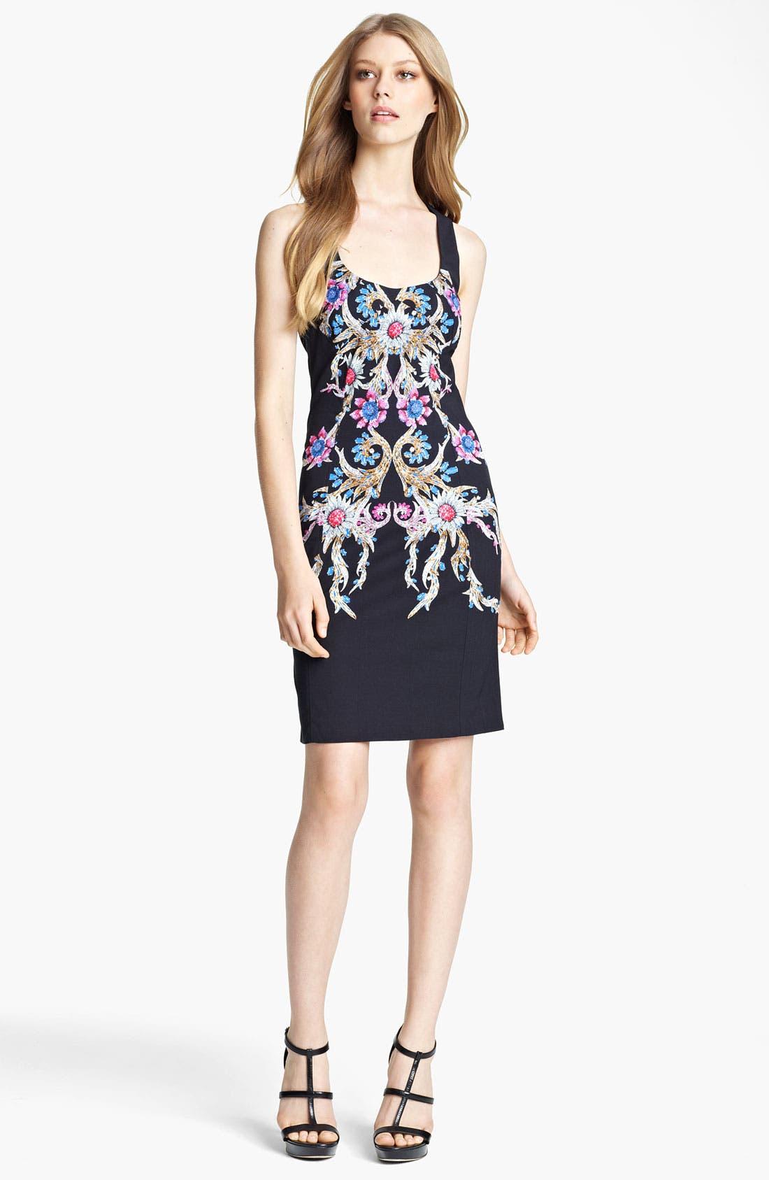 Main Image - Roberto Cavalli Print Square Neck Dress