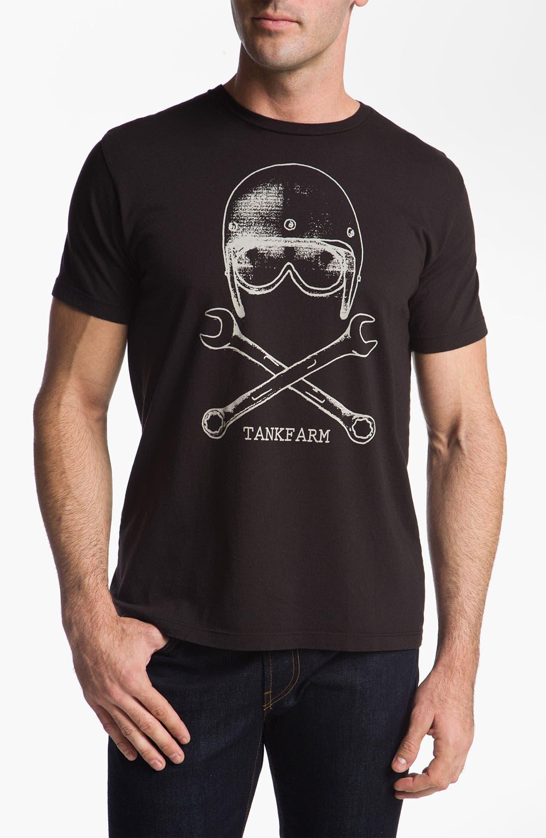 Alternate Image 1 Selected - Tankfarm 'Skull & Wrench' T-Shirt