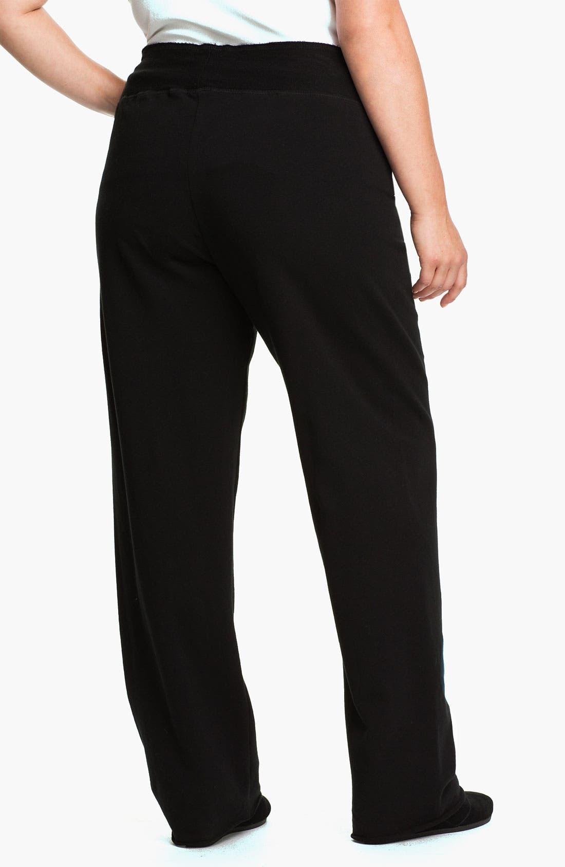Alternate Image 2  - Pink Lotus Drawstring Pants (Plus Size)