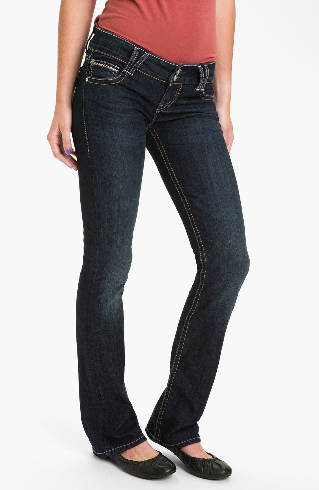 Alternate Image 2  - Silver Jeans Co. 'Dawson' Flare Leg Jeans (Juniors)