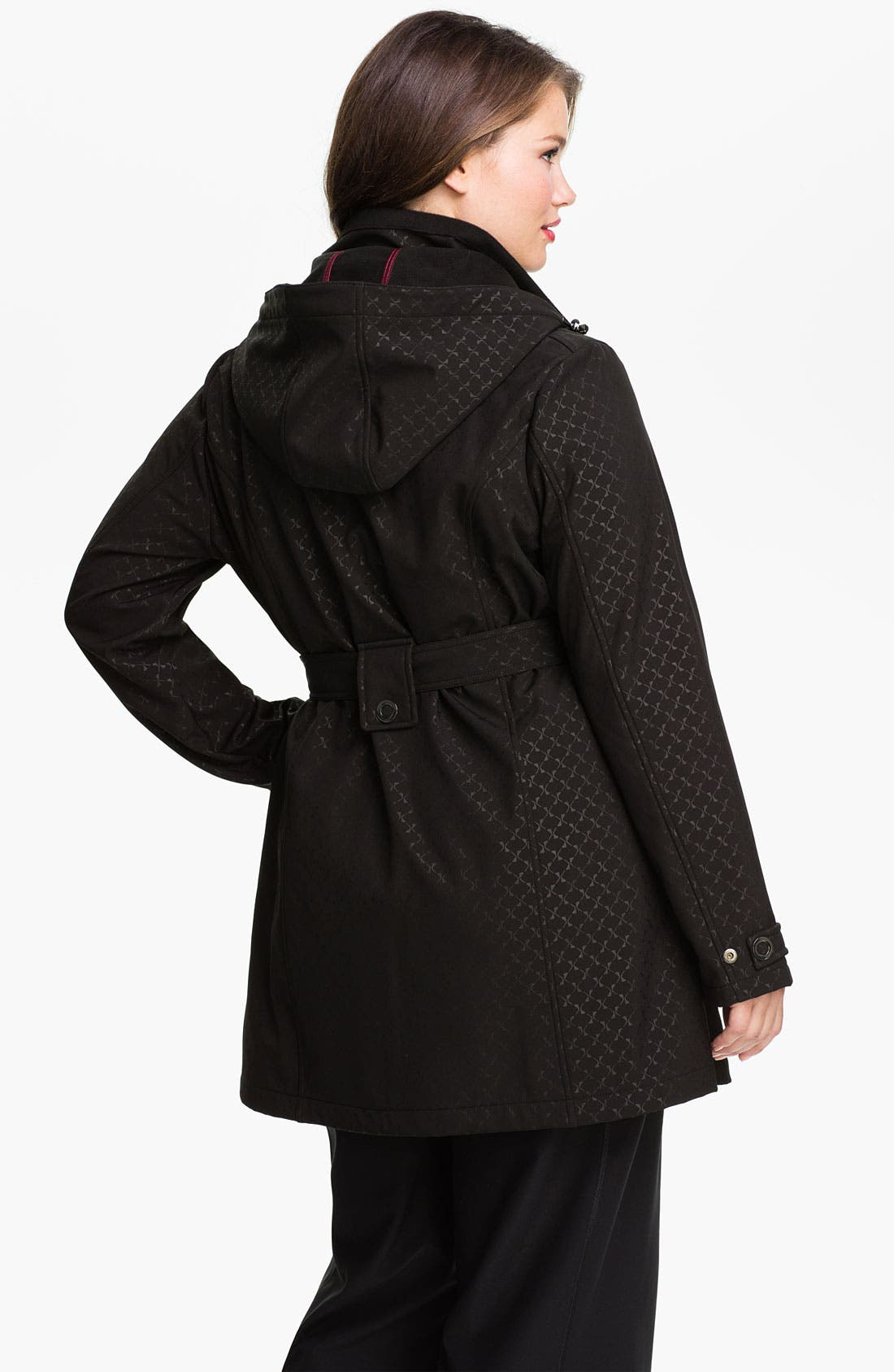 Alternate Image 2  - Weatherproof® Belted Softshell Coat (Plus Size)