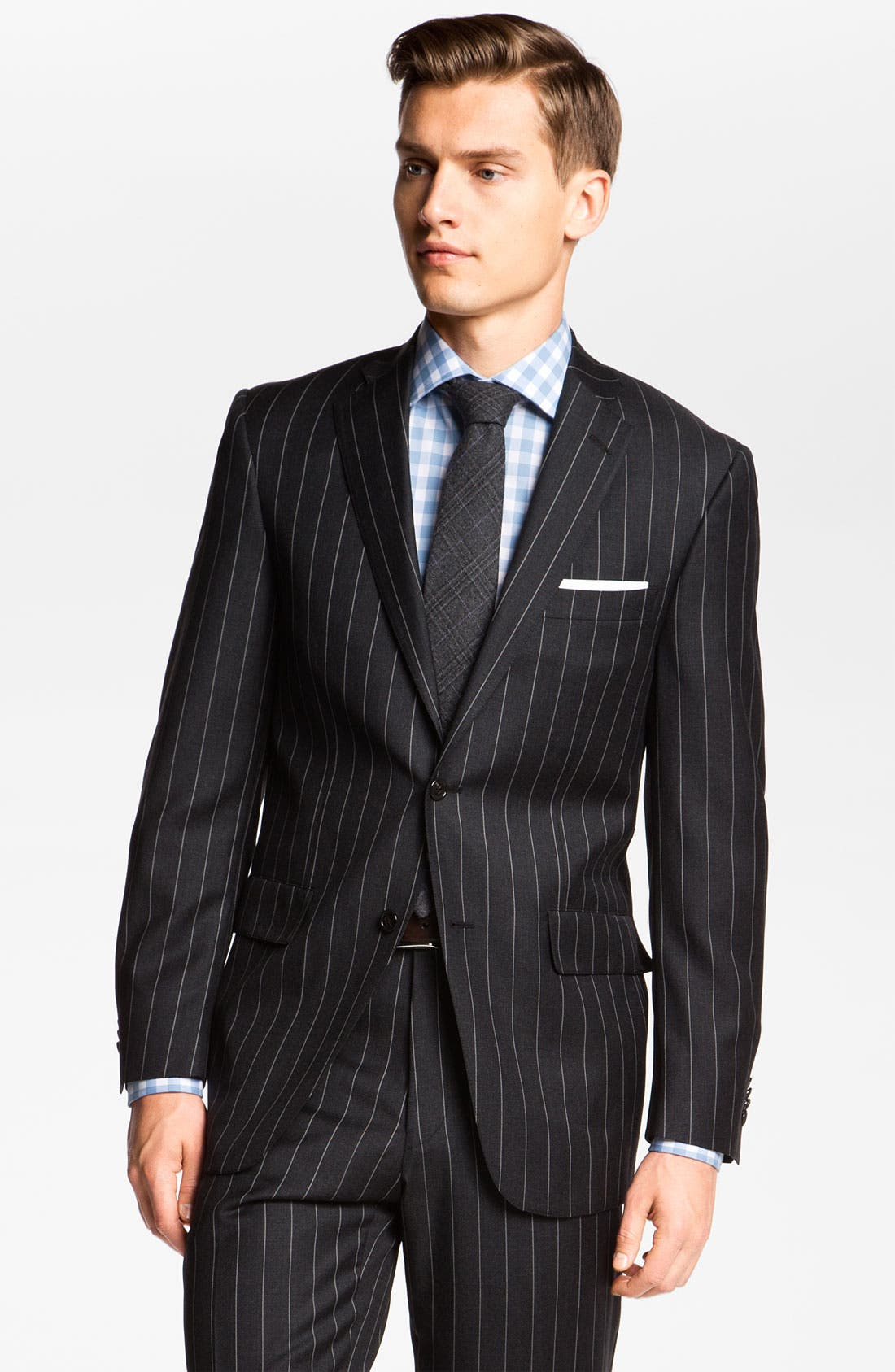 Alternate Image 1 Selected - Hart Schaffner Marx Stripe Wool Suit