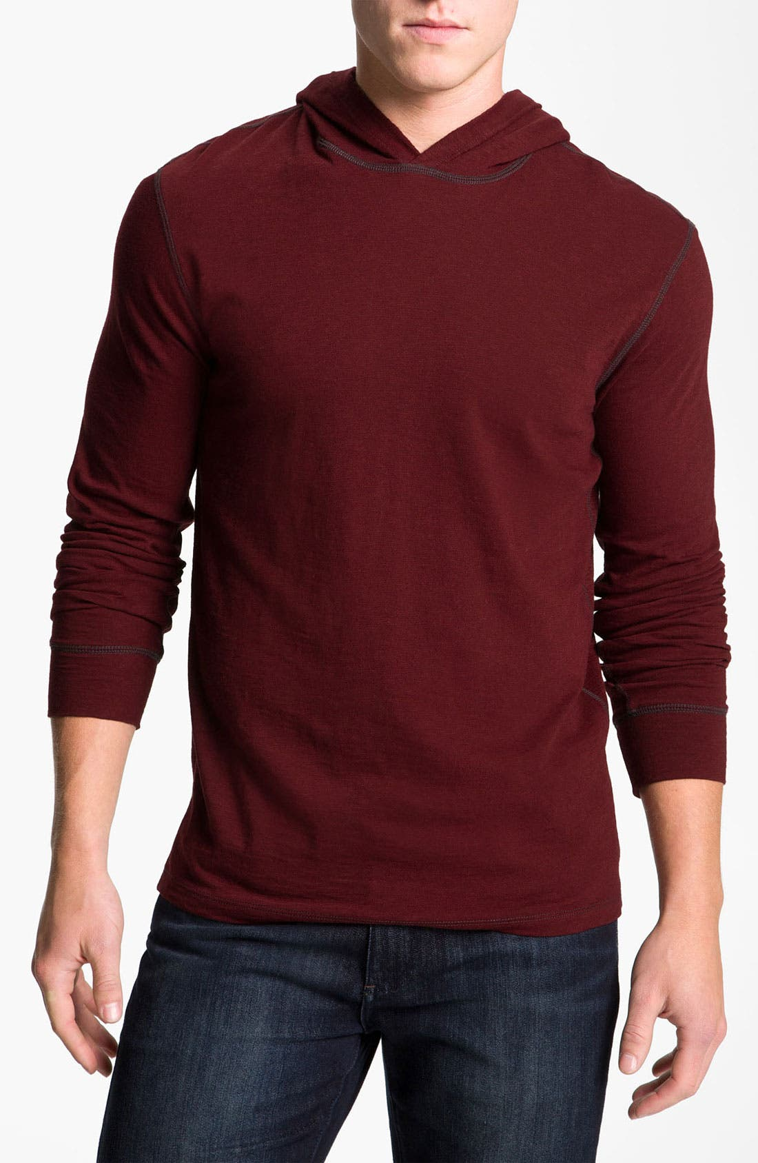 Alternate Image 1 Selected - Vince Slub Cotton Jersey Hoodie