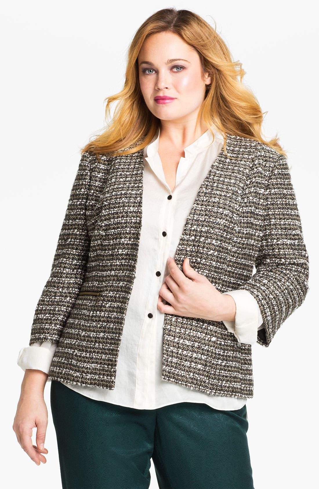 Alternate Image 1 Selected - Sejour Tweed Jacket (Plus)
