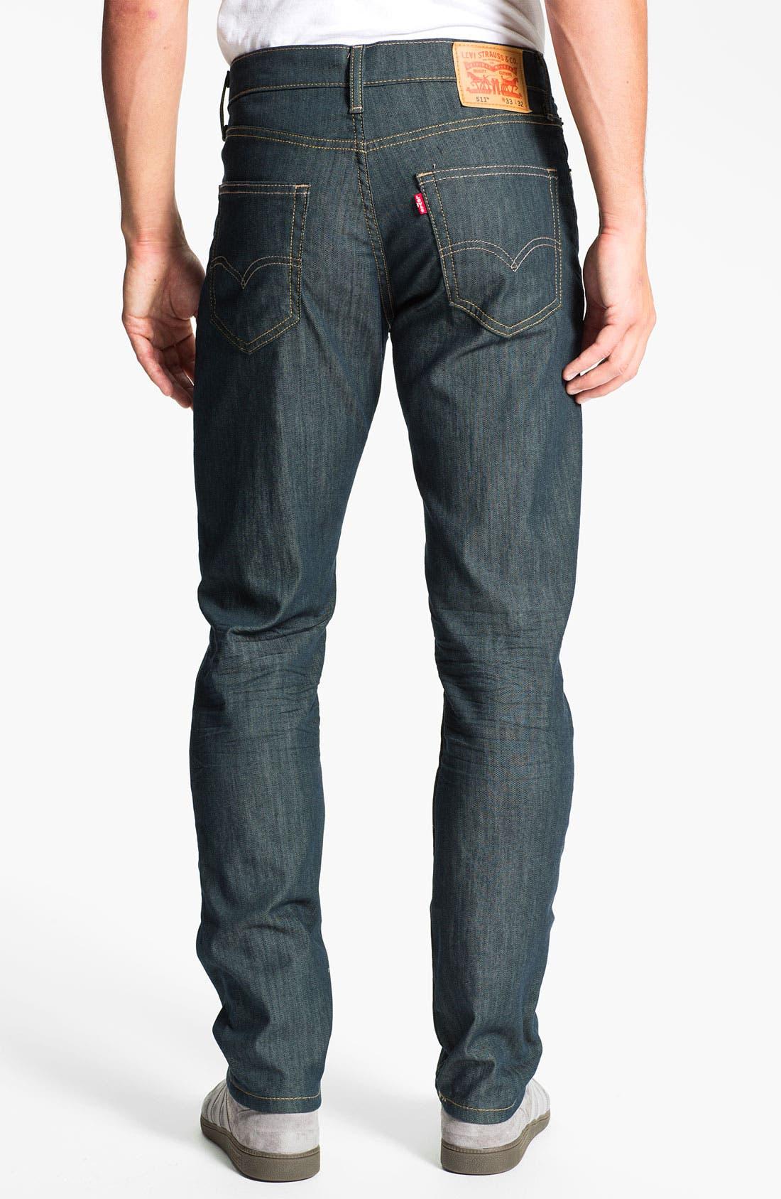 Alternate Image 1 Selected - Levi's® '511™' Skinny Leg Jeans (Rinsed Playa)