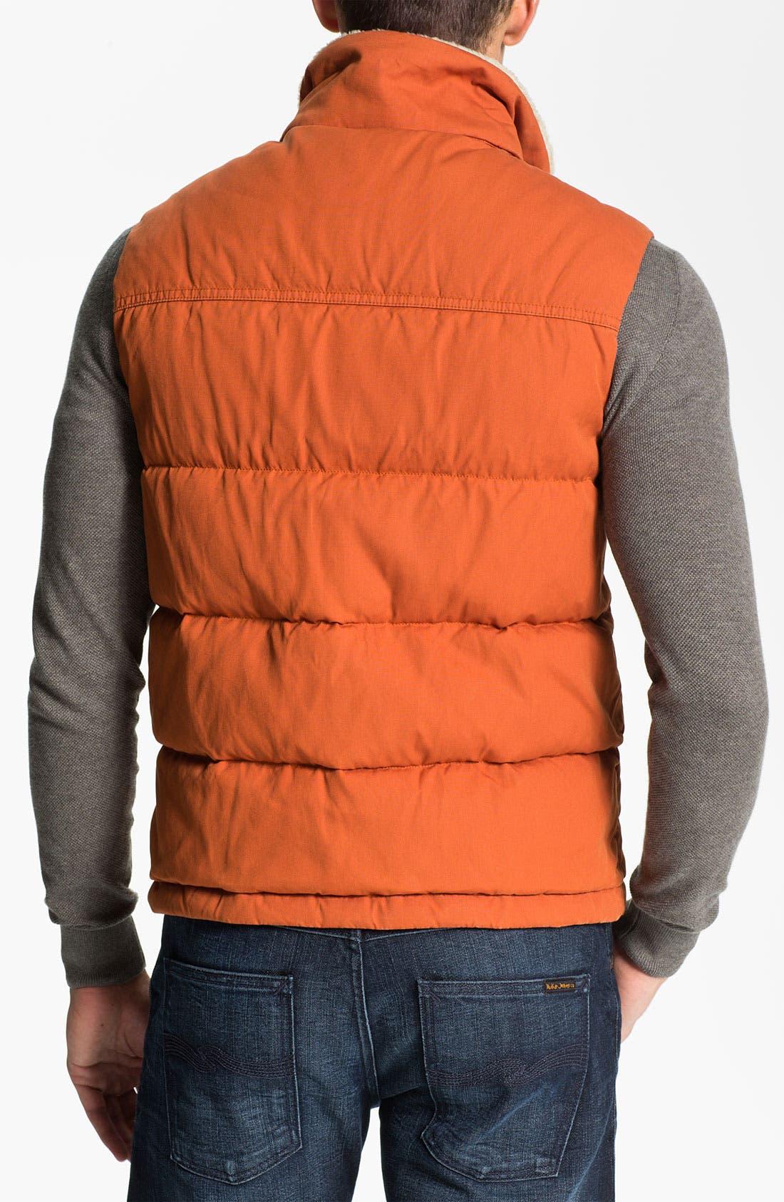 Alternate Image 2  - Façonnable 'Cire' Club Fit Down & Feather Vest with Faux Fur Trim