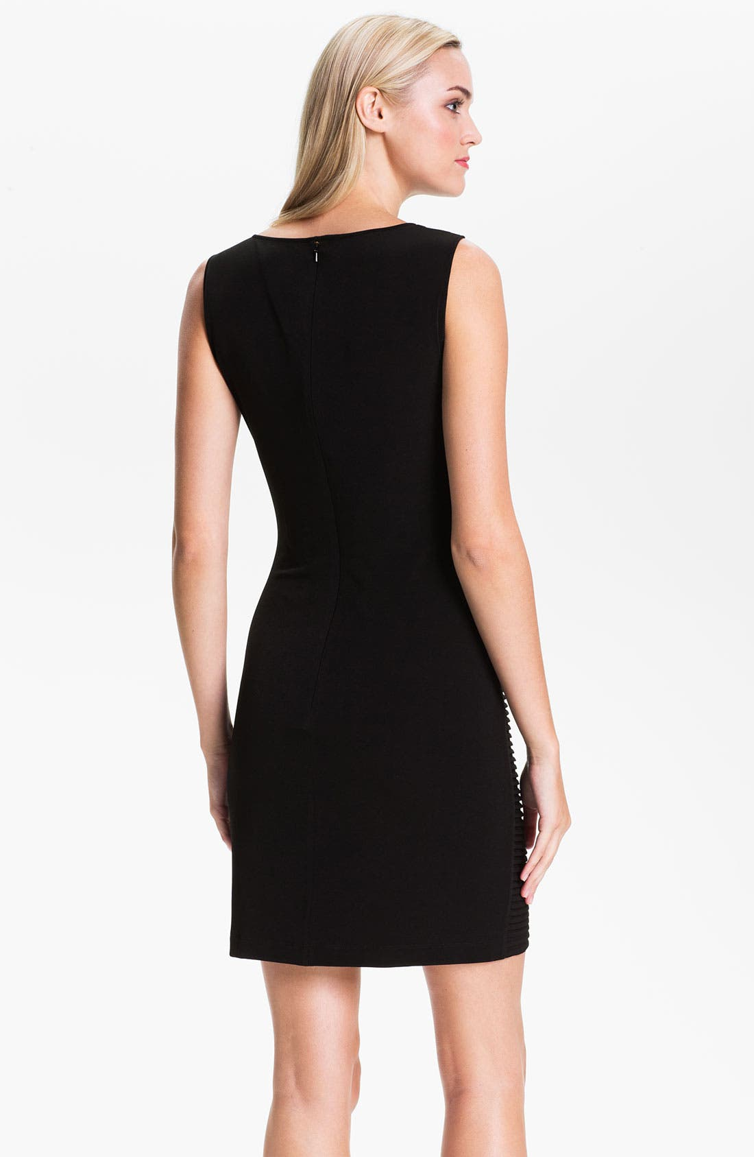 Alternate Image 2  - Calvin Klein Pleated Colorblock Jersey Dress