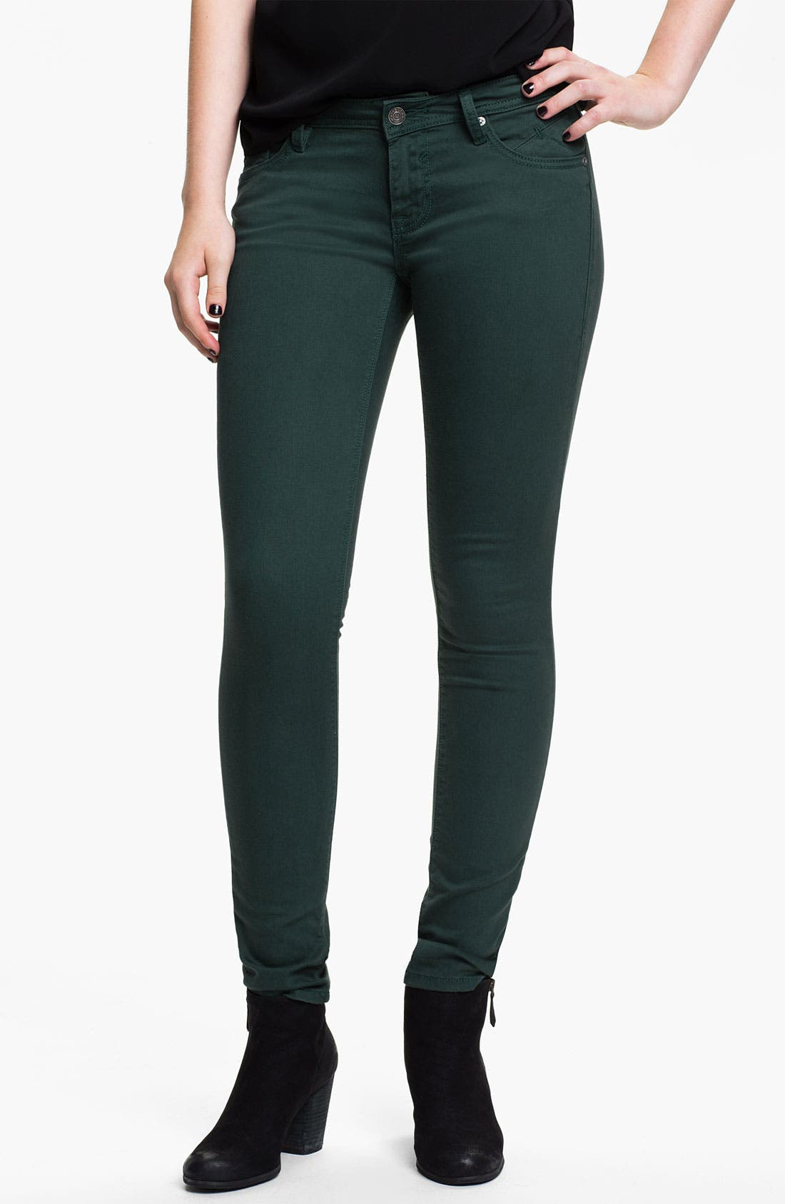 Alternate Image 2  - Vigoss Color Skinny Jeans (Juniors) (Online Exclusive)