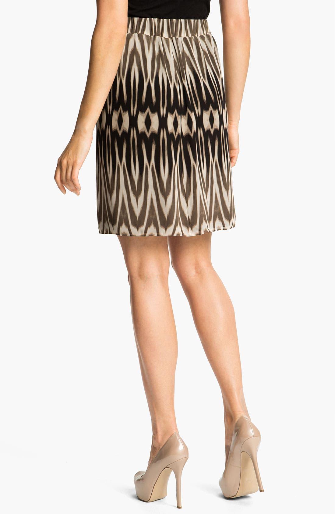Alternate Image 2  - Chaus Ombré Ikat Print Skirt
