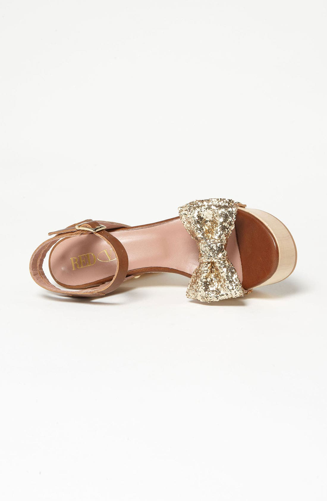 Alternate Image 3  - RED Valentino Gold Glitter Sandal