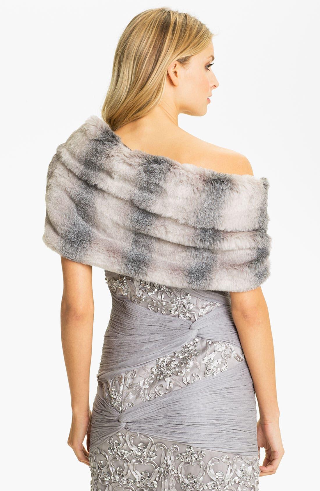 Alternate Image 2  - Sue Wong Faux Fur Wrap