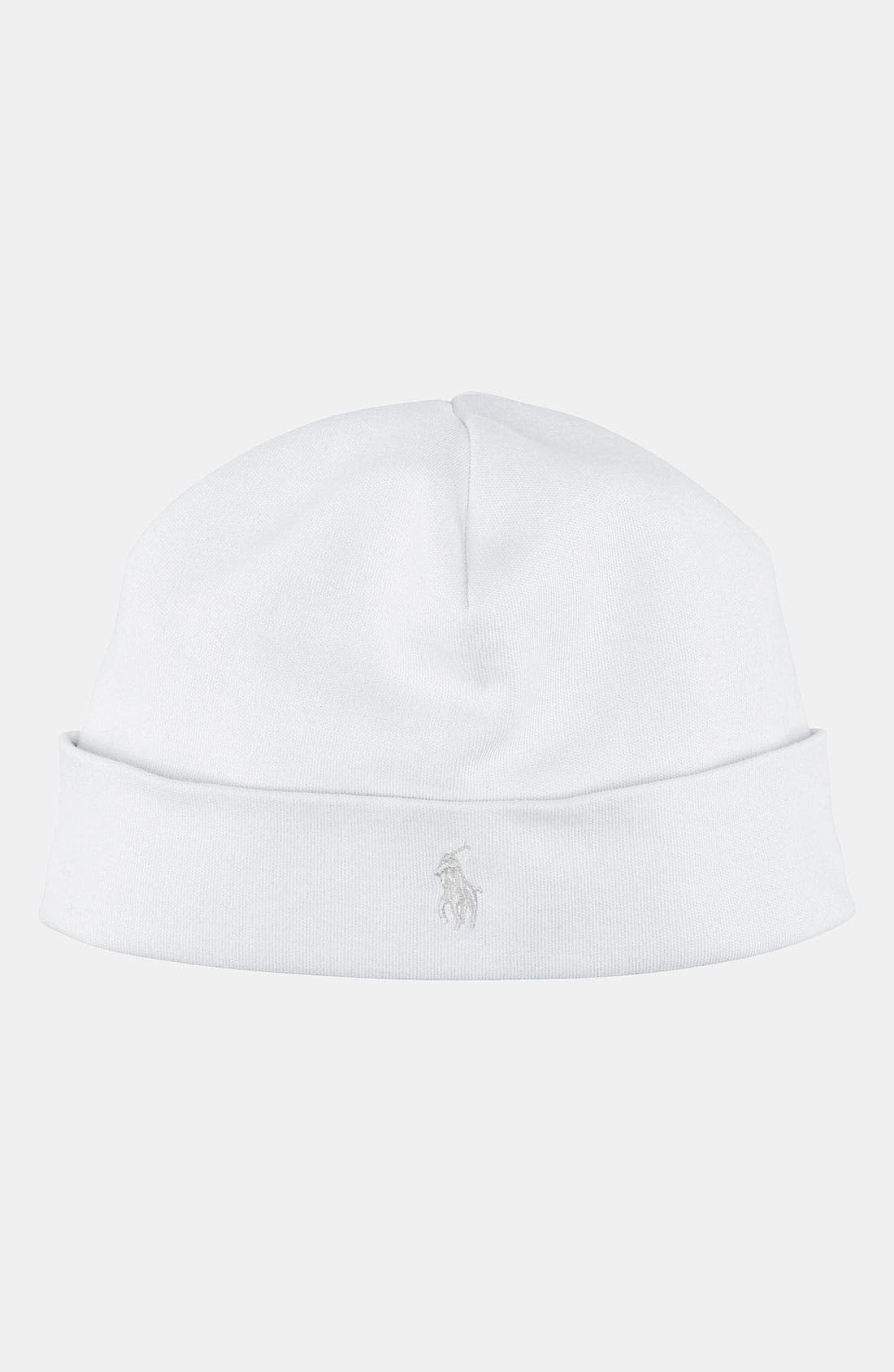Alternate Image 1 Selected - Ralph Lauren Cotton Beanie (Infant)
