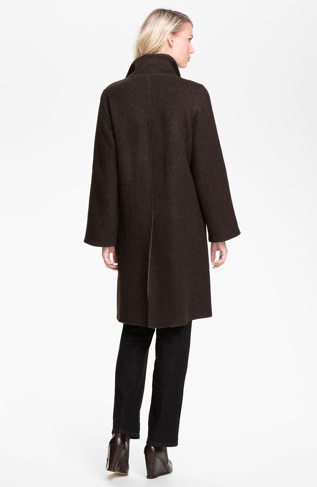 Alternate Image 2  - Eileen Fisher Alpaca Blend Coat