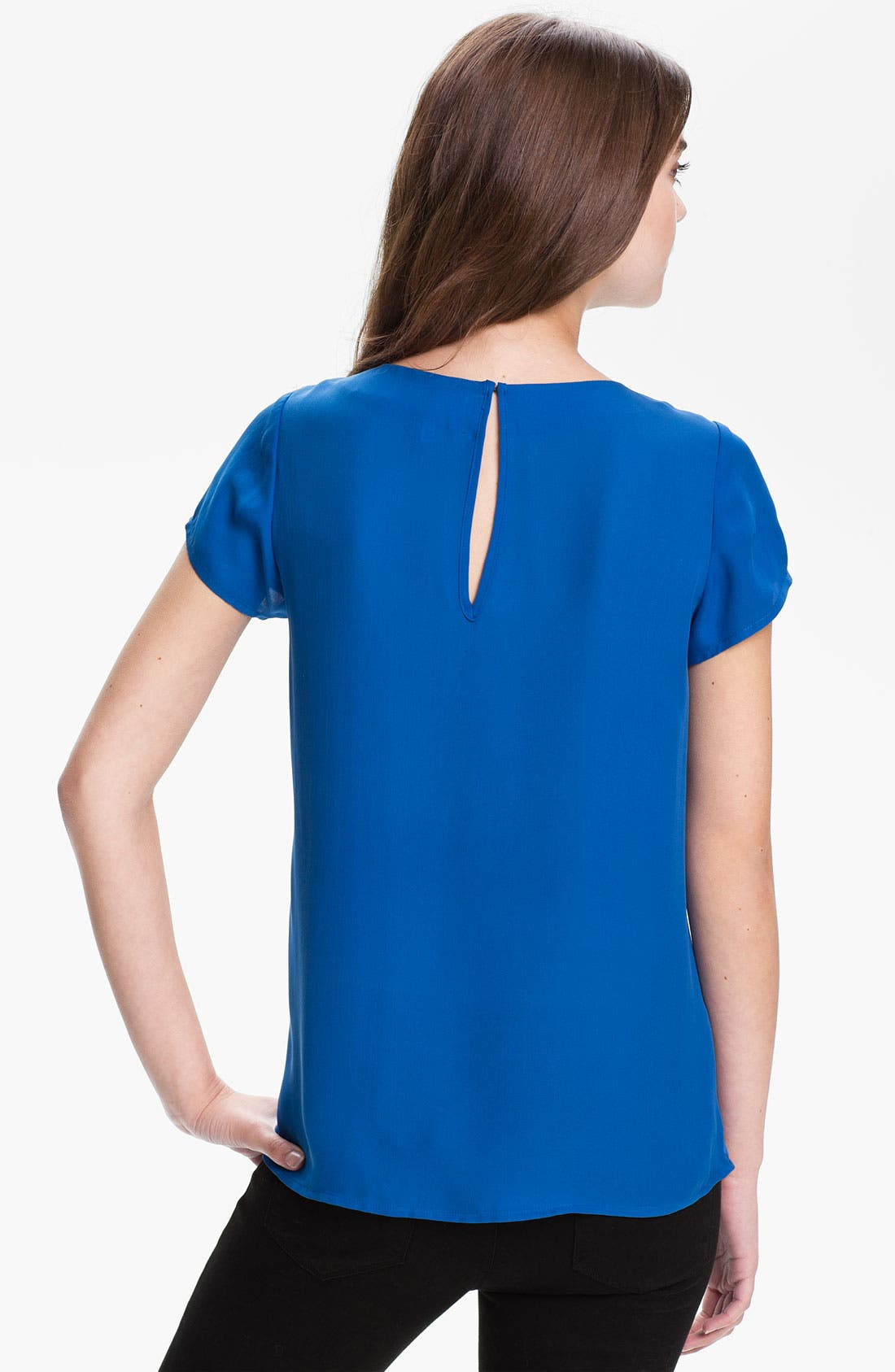 Alternate Image 2  - Joie 'Meera' Pleat Neck Silk Top