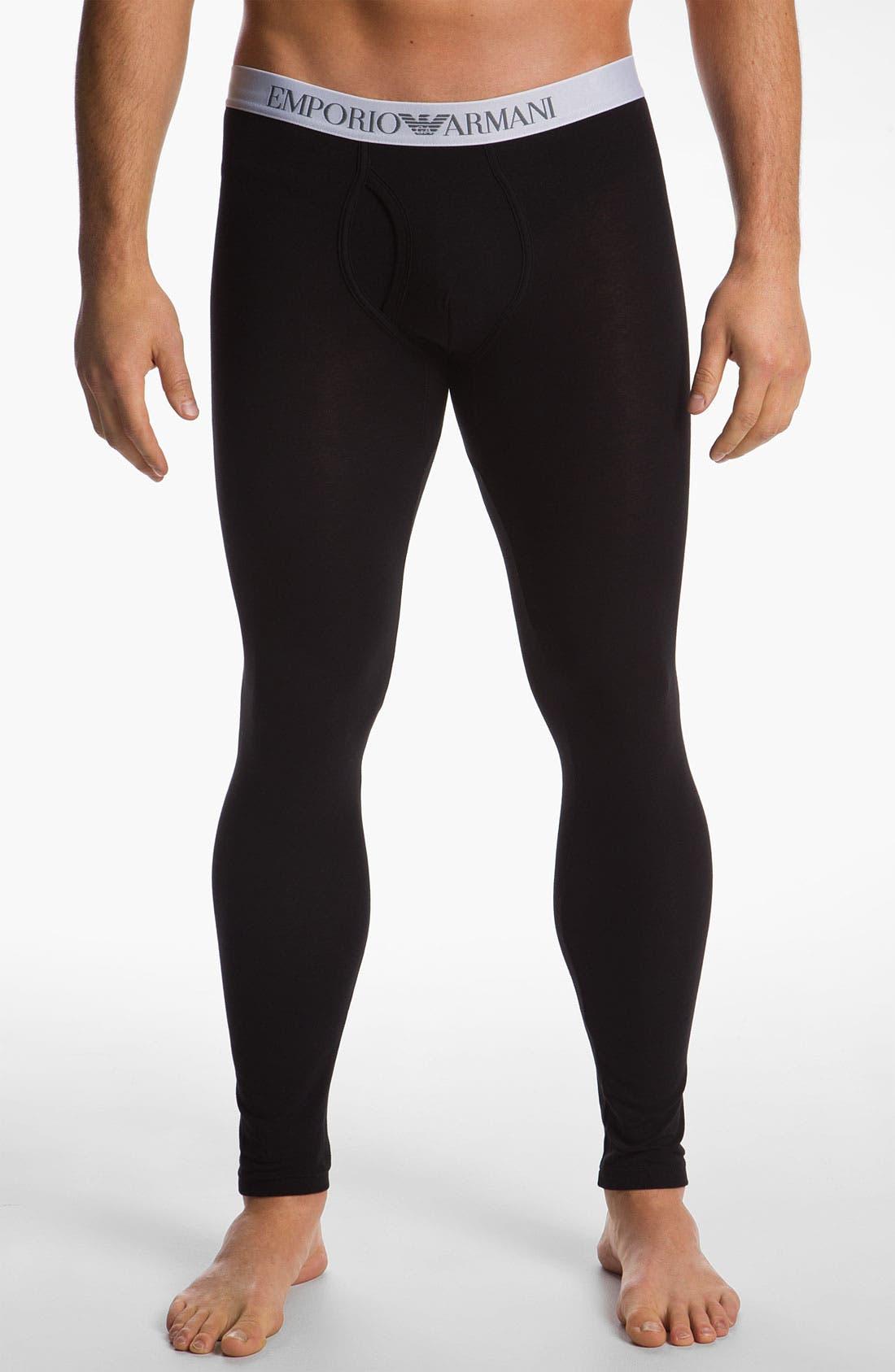 Alternate Image 1 Selected - Emporio Armani 'Basic' Stretch Leggings