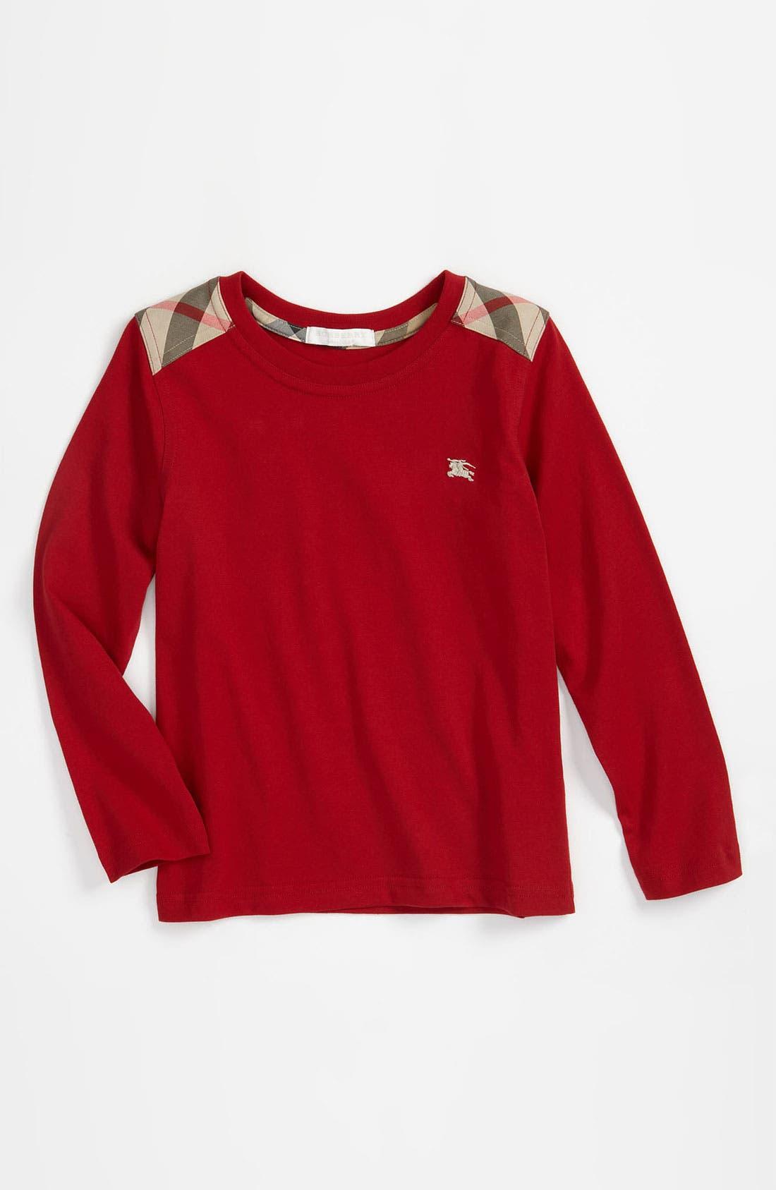 Main Image - Burberry Shoulder Patch T-Shirt (Little Boys & Big Boys)