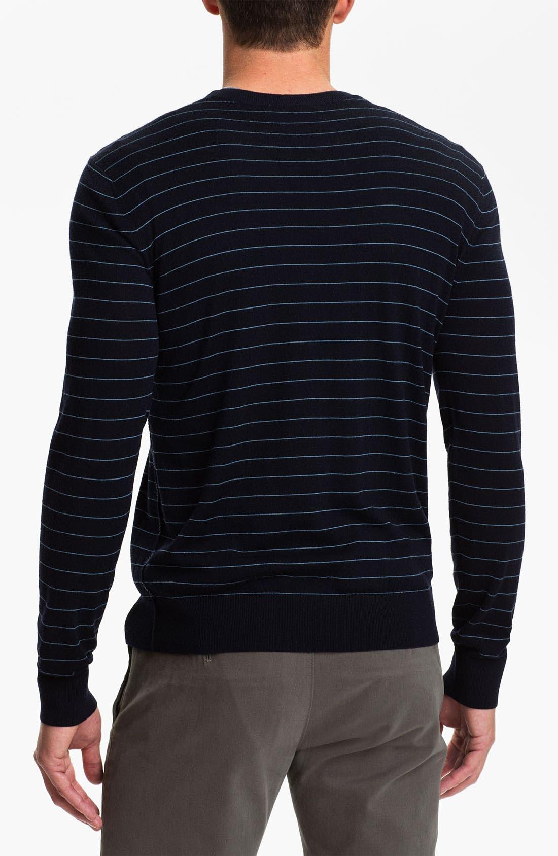 Alternate Image 2  - Theory Stripe Wool Sweater