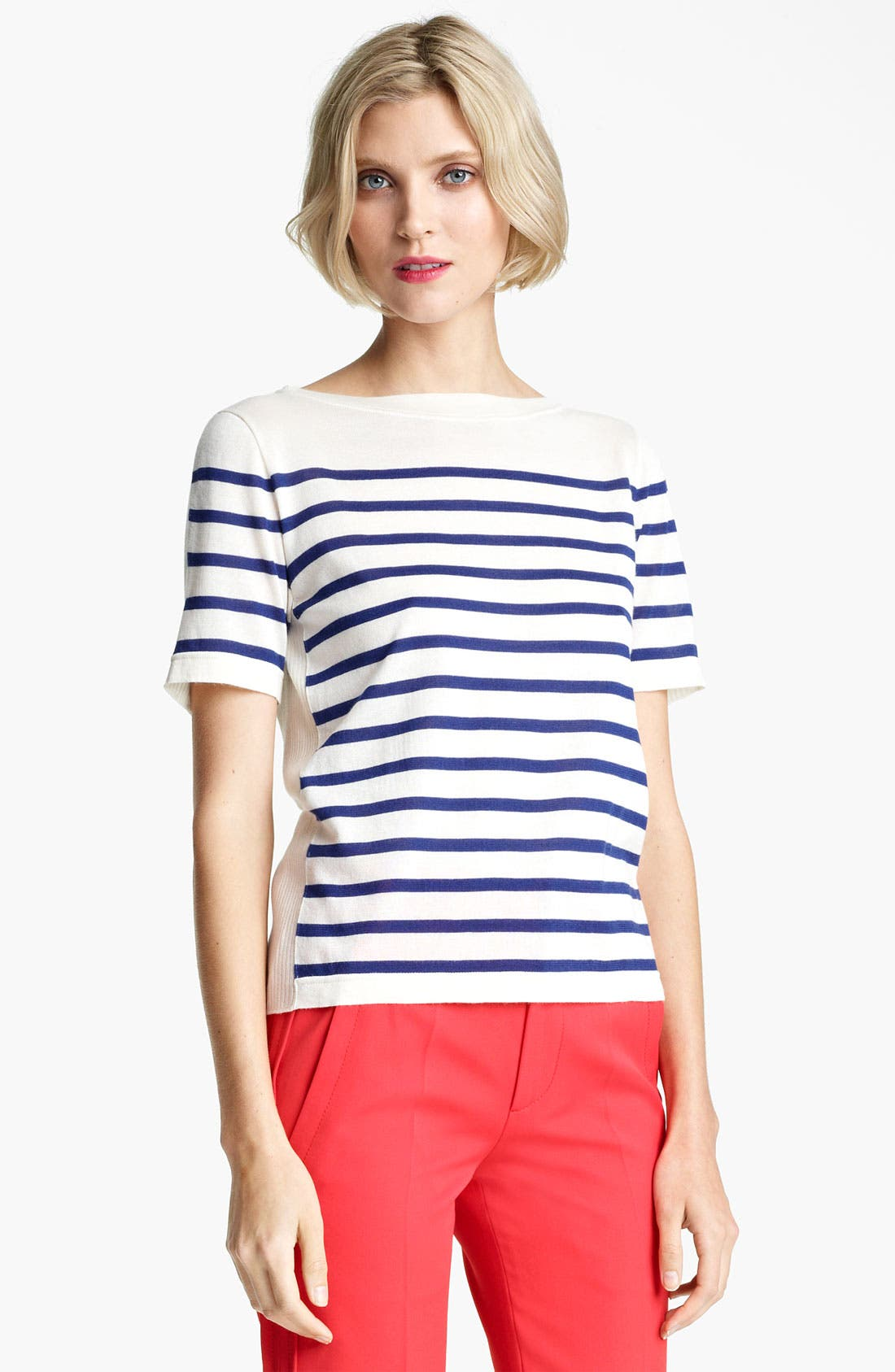 Main Image - MARC JACOBS Stripe Short Sleeve Sweater