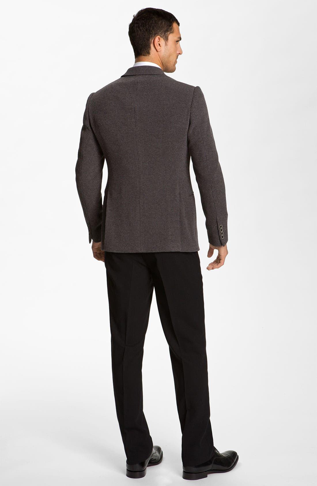 Alternate Image 5  - Armani Collezioni Trim Fit Knit Blazer