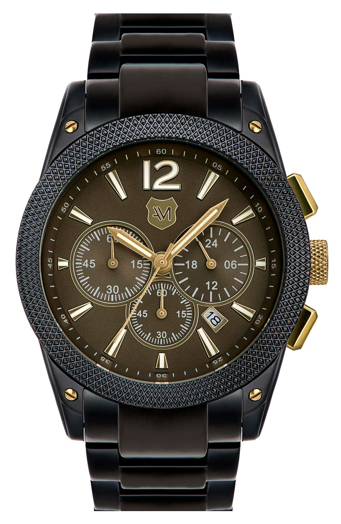 Alternate Image 1 Selected - Andrew Marc Watches 'Heritage Pilot' Chronograph Bracelet Watch, 45mm