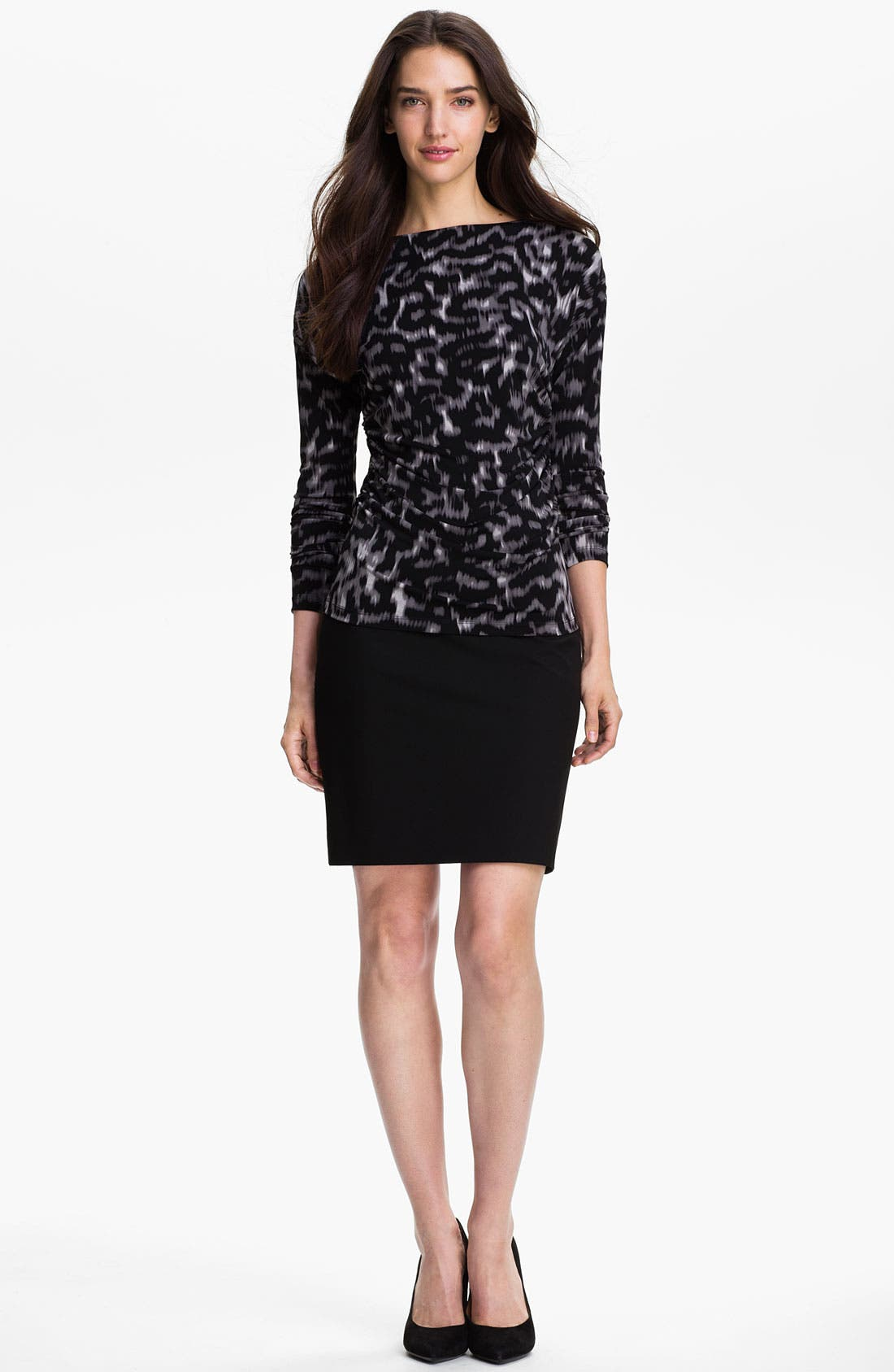 Alternate Image 4  - Vince Camuto Ruched Bateau Neck Top