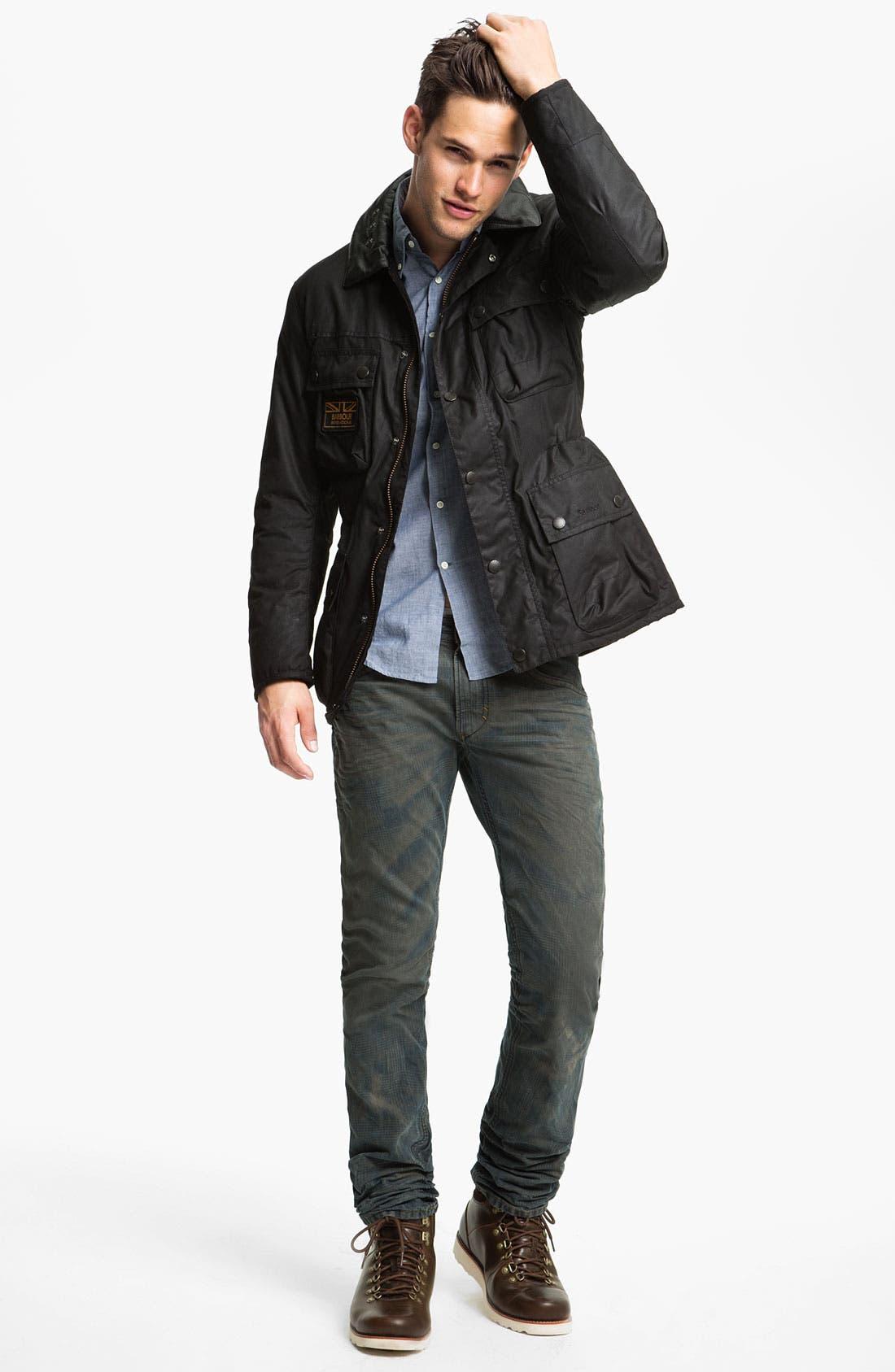 Alternate Image 5  - DIESEL® 'Thavar' Slim Straight Leg Jeans (0808Z)