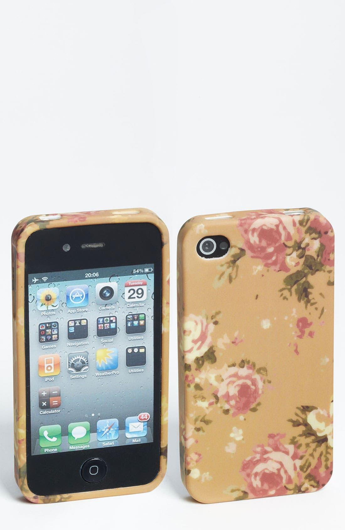 Main Image - Design Lab 'Painterly Floral' iPhone 4 & 4S Case