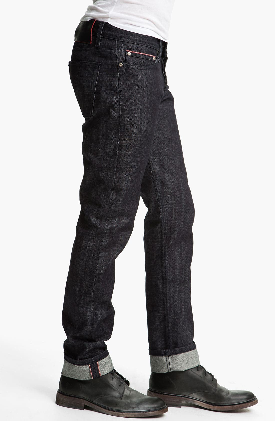 Alternate Image 3  - Naked & Famous Denim 'Weird Guy' Slim Tapered Leg Red Core Selvedge Jeans (Indigo)