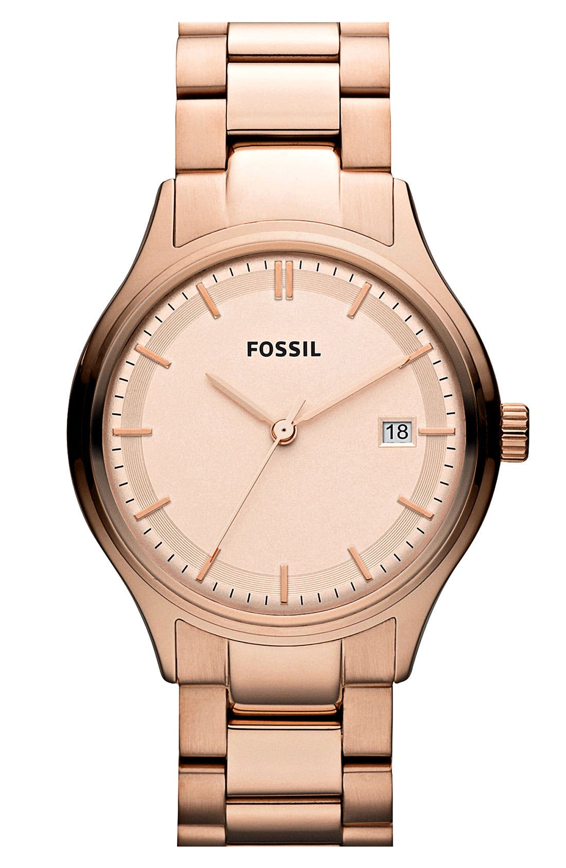Alternate Image 1 Selected - Fossil 'Archival' Round Bracelet Watch, 36mm