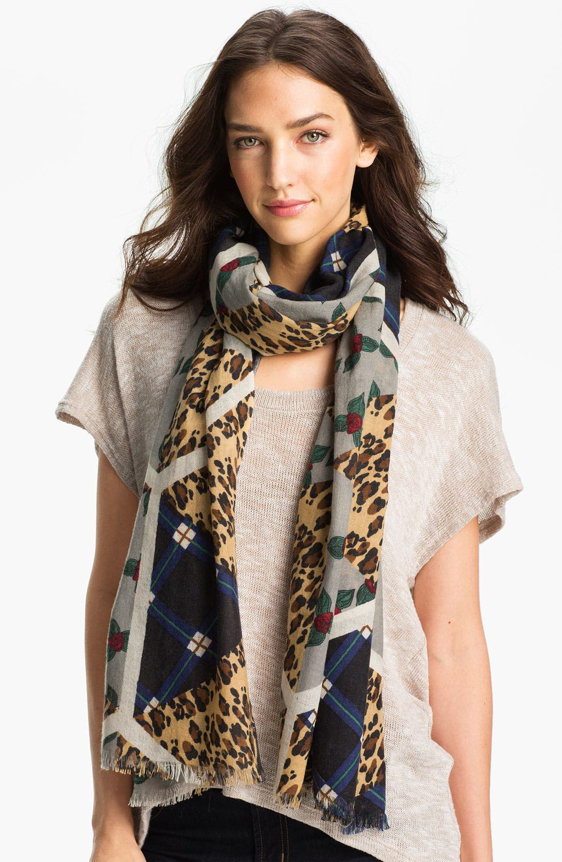 Alternate Image 1 Selected - Yarnz 'Polygon' Cashmere & Wool Scarf