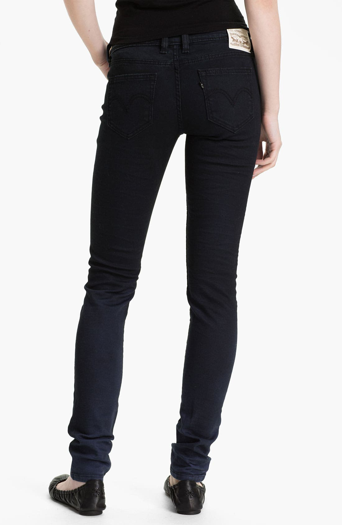 Alternate Image 2  - Levi's® Denim Leggings (Faded Blue)