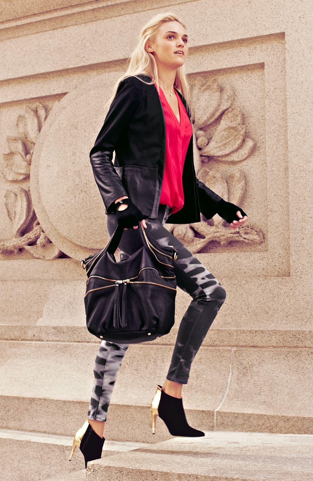 Alternate Image 1 Selected - Parker Jacket, Blouse & J Brand Jeans