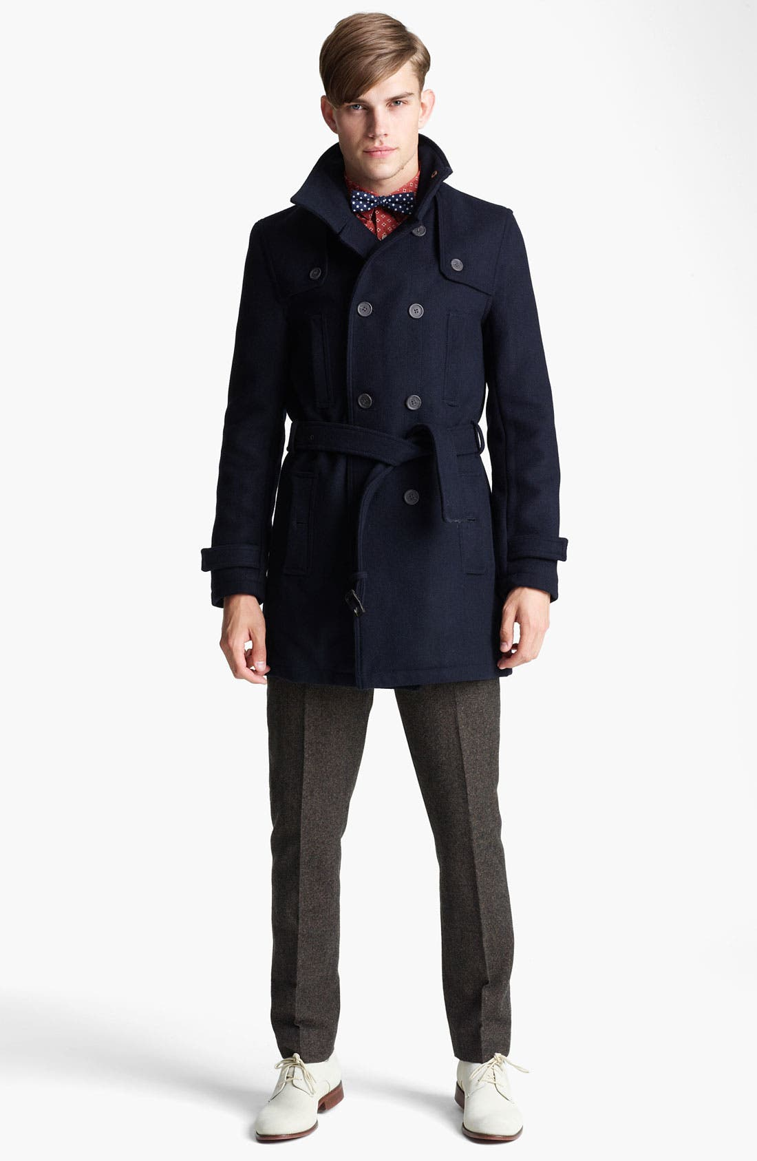 Alternate Image 4  - Topman Funnel Neck Trench Coat