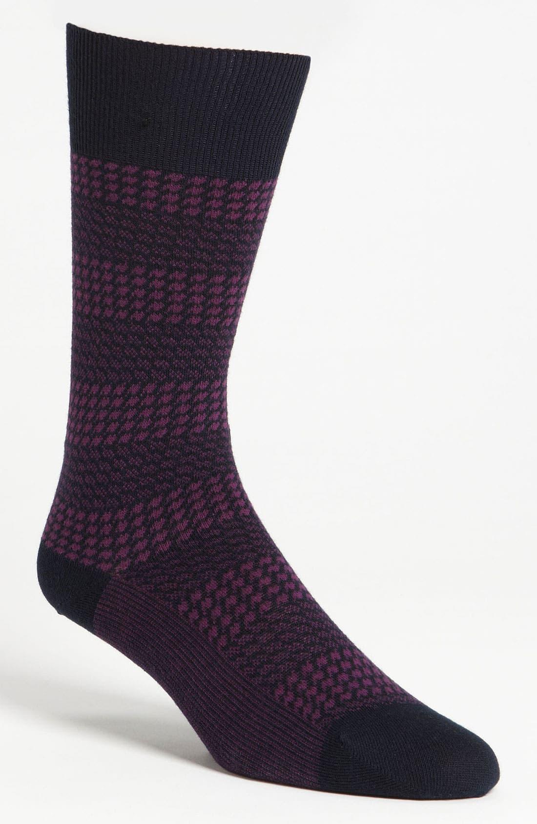 Main Image - BOSS Black Houndstooth Socks